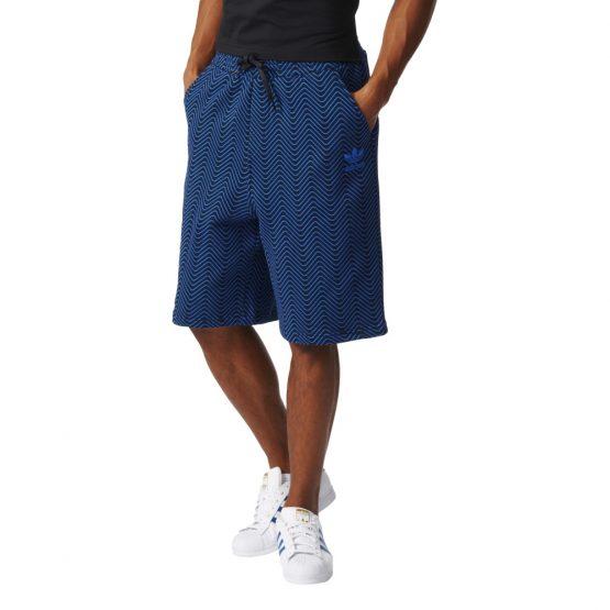 ביגוד Adidas Originals לגברים Adidas Originals NYC AOP - כחול כהה
