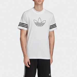 ביגוד Adidas Originals לגברים Adidas Originals Outline Tee - לבן