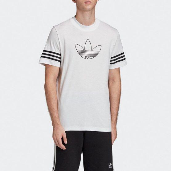 ביגוד Adidas Originals לגברים Adidas Originals Outline Tee - לבן