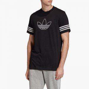 ביגוד Adidas Originals לגברים Adidas Originals Outline Tee - שחור