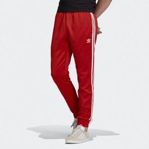 ביגוד Adidas Originals לגברים Adidas Originals SST Track pants - אדום