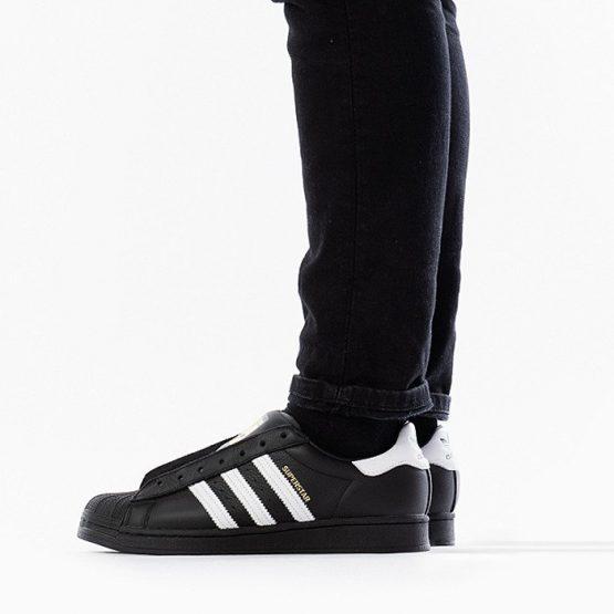 נעלי סניקרס אדידס לגברים Adidas Originals Superstar Laceless - שחור