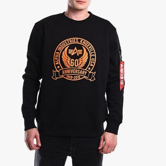 ביגוד אלפא אינדסטריז לגברים Alpha Industries Anniversary Sweater - שחור