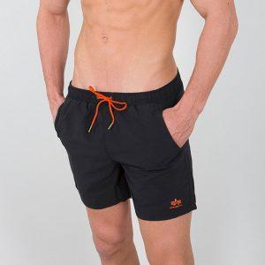 ביגוד אלפא אינדסטריז לגברים Alpha Industries Basic Swim Short - שחור