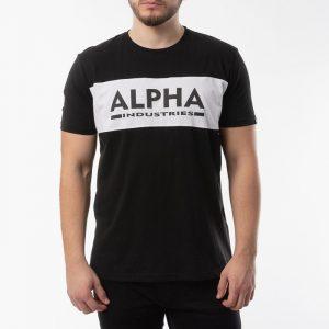 ביגוד אלפא אינדסטריז לגברים Alpha Industries Inlay T - שחור
