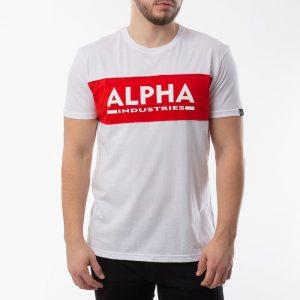 ביגוד אלפא אינדסטריז לגברים Alpha Industries Inlay T - לבן