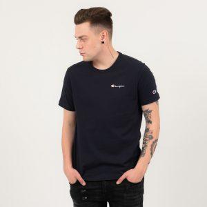 ביגוד צ'מפיון לגברים Champion Crewneck T-shirt - כחול כהה