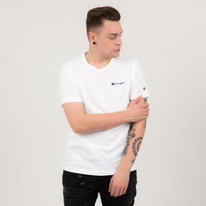 ביגוד צ'מפיון לגברים Champion Crewneck T-shirt - לבן