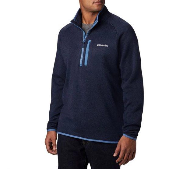 ביגוד קולומביה לגברים Columbia Canyon Point M Sweater Fleece - כחול כהה