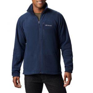 סווטשירט קולומביה לגברים Columbia Fast Trek II Full Zip Fleece - כחול כהה
