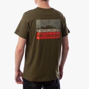 חולצת T קולומביה לגברים Columbia Rapid Ridge Back Graphic - ירוק