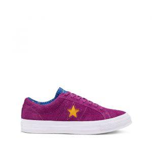 נעלי סניקרס קונברס לגברים Converse One Star Twisted Classic - סגול