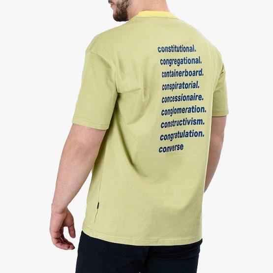 ביגוד קונברס לגברים Converse Vintage Wordmark - ירוק