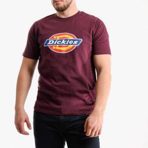 חולצת T Dickies לגברים Dickies Horseshoe - בורדו