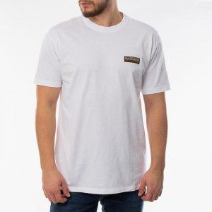 חולצת T נפפירי לגברים Napapijri Sase - לבן