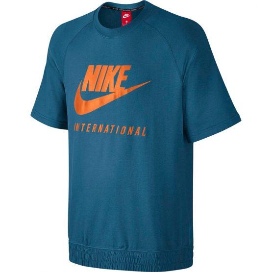 ביגוד נייק לגברים Nike INTL CRW SS - כחול