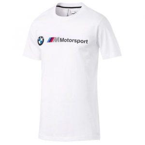 ביגוד פומה לגברים PUMA BMW MMS Logo Tee - לבן