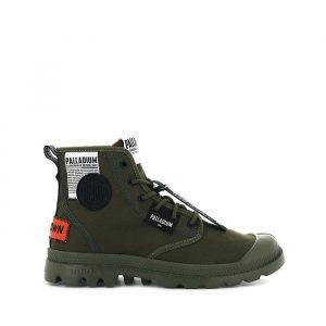 נעליים פלדיום לגברים Palladium Pampa Lite Overlab Dark Olive - ירוק