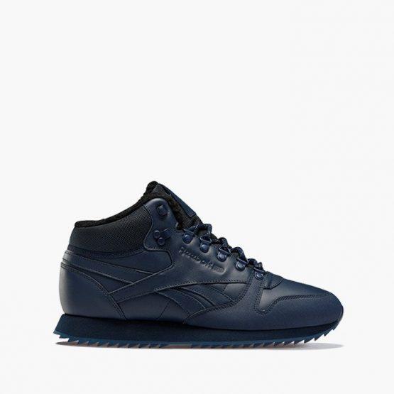 נעליים ריבוק לגברים Reebok Classic Leather Mid Ripple - כחול כהה