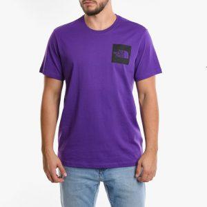 ביגוד דה נורת פיס לגברים The North Face Fine T-shirt - צהוב