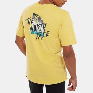 ביגוד דה נורת פיס לגברים The North Face Masters Of Stone Tee - צהוב
