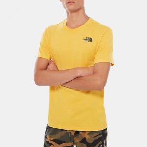 ביגוד דה נורת פיס לגברים The North Face Red Box Tee - צהוב