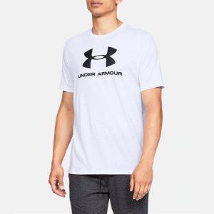 ביגוד אנדר ארמור לגברים Under Armour Sportstyle Logo - לבן