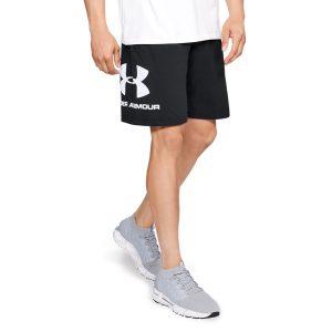ביגוד אנדר ארמור לגברים Under Armour Sportsyle Cotton Logo - שחור