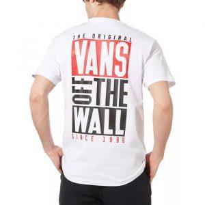 ביגוד ואנס לגברים Vans New Stax T-shirt - לבן