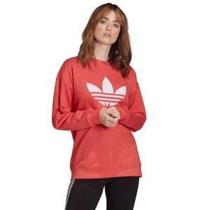 ביגוד Adidas Originals לנשים Adidas Originals Trefoil Crew Sweatshirt - אדום