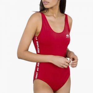 ביגוד אלפא אינדסטריז לנשים Alpha Industries RBF Tape Swimsuit - אדום
