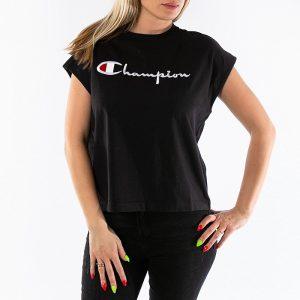 ביגוד צ'מפיון לנשים Champion Crewneck Sleeveless - שחור