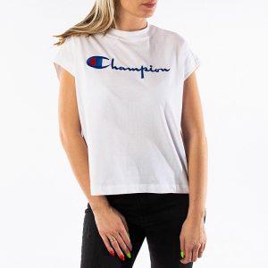 ביגוד צ'מפיון לנשים Champion Crewneck Sleeveless - לבן