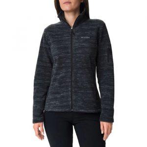 ביגוד קולומביה לנשים Columbia Fast Trek Printed Jacket - שחור
