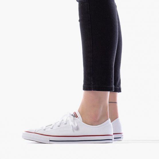 נעלי סניקרס קונברס לנשים Converse Chuck Taylor All Star Dainty OX - לבן