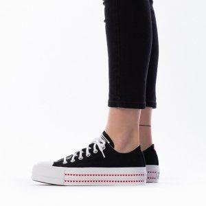 נעליים קונברס לנשים Converse Chuck Taylor All Star Lift x Love Fearlessly - שחור