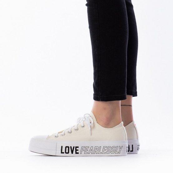 נעלי סניקרס קונברס לנשים Converse Chuck Taylor All Star Lift x Love Fearlessly - לבן