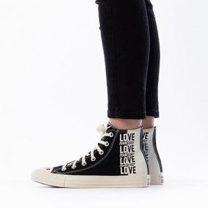 נעליים קונברס לנשים Converse Chuck Taylor All Star x Love Fearlessly - שחור/לבן
