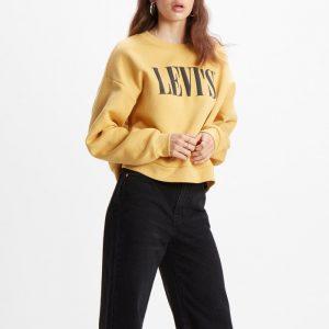 ביגוד ליוויס לנשים Levi's Graphic Diana Crew - צהוב