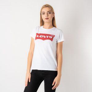 חולצת T ליוויס לנשים Levi's The Perfect Tee - לבן/אדום