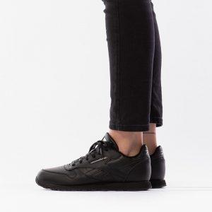 נעלי סניקרס ריבוק לנשים Reebok Classic Leather - שחור