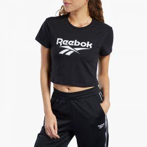 ביגוד ריבוק לנשים Reebok Classic Vector Crop Top - שחור
