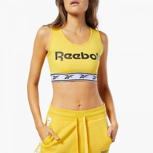 ביגוד ריבוק לנשים Reebok Classics Vector Light-Impact Bra - צהוב