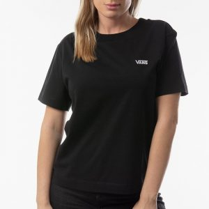 חולצת T ואנס לנשים Vans V Boxy - שחור