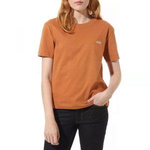 חולצת T ואנס לנשים Vans V Boxy - כתום