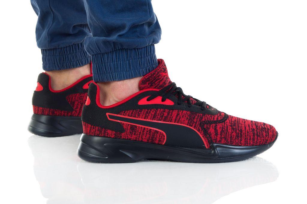 נעליים פומה לגברים PUMA JARO KNIT - שחור/אדום