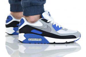 נעלי סניקרס נייק לגברים Nike Air Max 90 Essential - שחור/כחול
