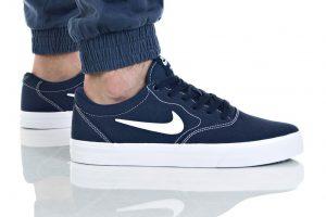נעלי סניקרס נייק לגברים Nike SB CHARGE SLR - כחול/לבן