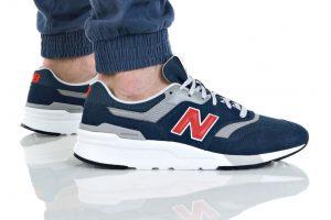 נעלי סניקרס ניו באלאנס לגברים New Balance CM997 - לבן/אדום