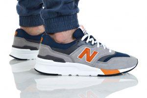 נעלי סניקרס ניו באלאנס לגברים New Balance CM997 - לבן/כתום